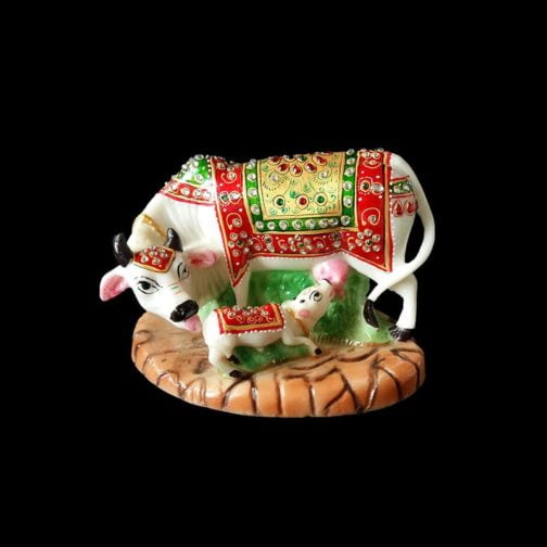 Marble Cow With Calf