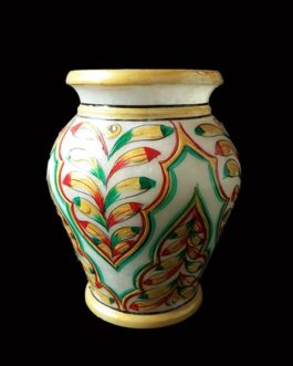 6 Inch Marble Flower Pot