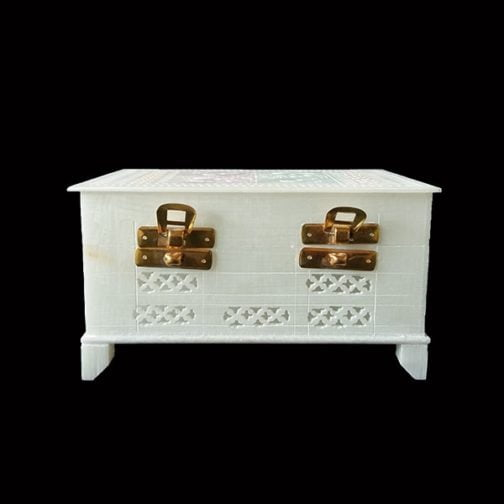 White Large Marble Jewellery Box