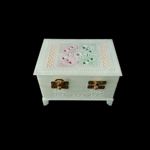 White Large Marble Jewelry Box
