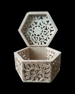 Light Brown Marble Jewelry Box