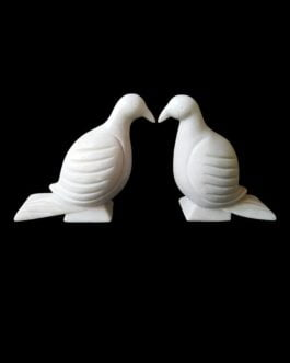 Marble Pigeon Statue