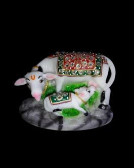 Small Marble Cow with Calf