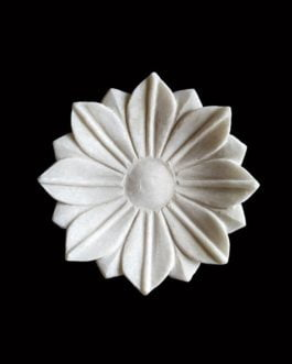 Circular Leaf Design Marble Bowl